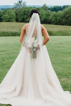 Bride, bouquet and veil