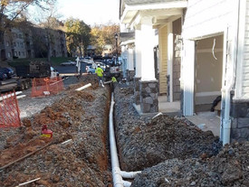 We install downspout drainage systems!