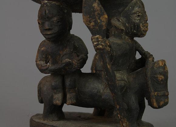 Wood Carved Divination Cup. Yoruba, Nigeria