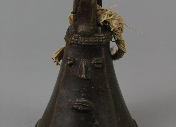 Brass Bell with Face