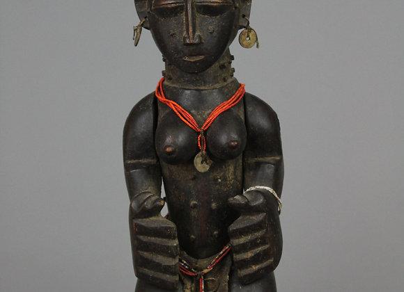 Wood Carved Seated Female Figure