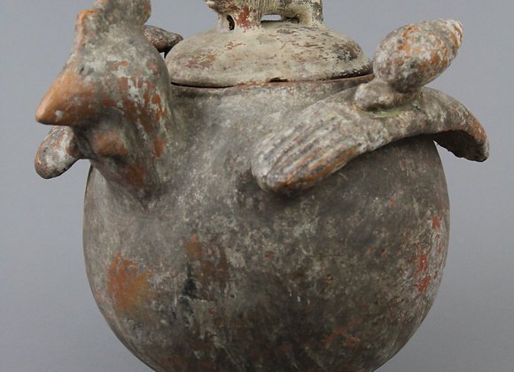 Clay Chicken Vessel with Lid