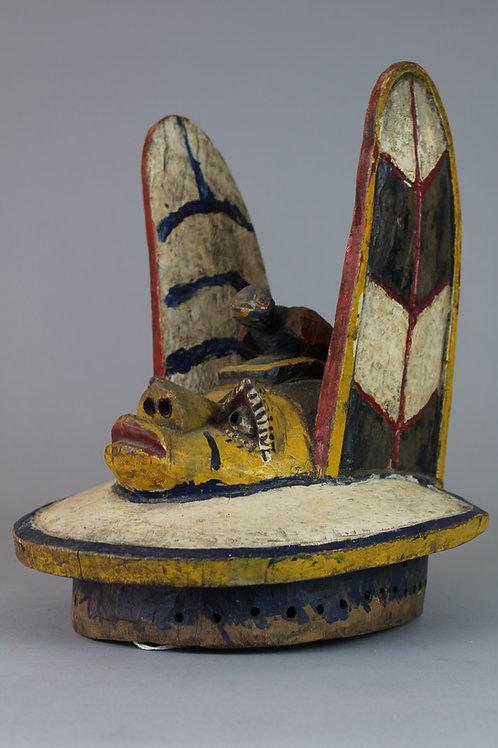 Nigerian Wood Carved Mask, Gelede, Nigeria