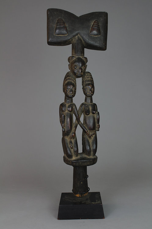 Wood Carved Shango Staff
