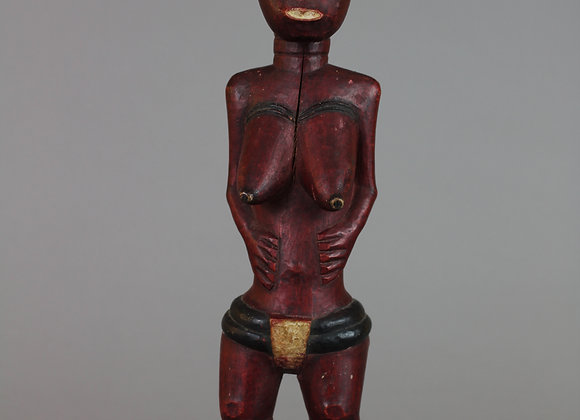Wood Carved Standing Female Figure