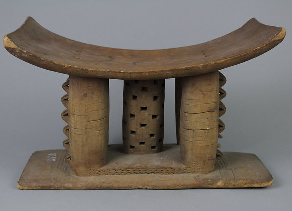 Wood Carved Stool. Akan, Ghana