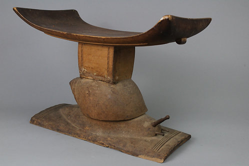 Wood Carved Stool. Akan, Ghana