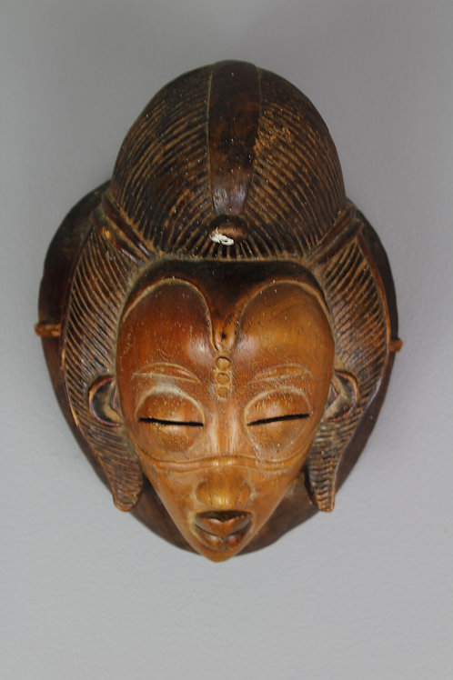 SOLD Wood Carved Decorative Contemporary Mask