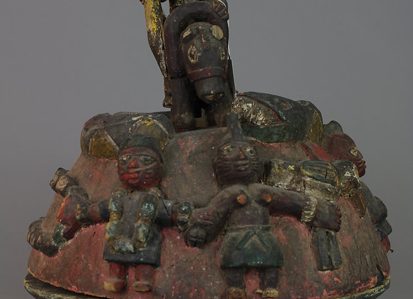 Wood Carved Bowl with Figures. Yoruba, Nigeria