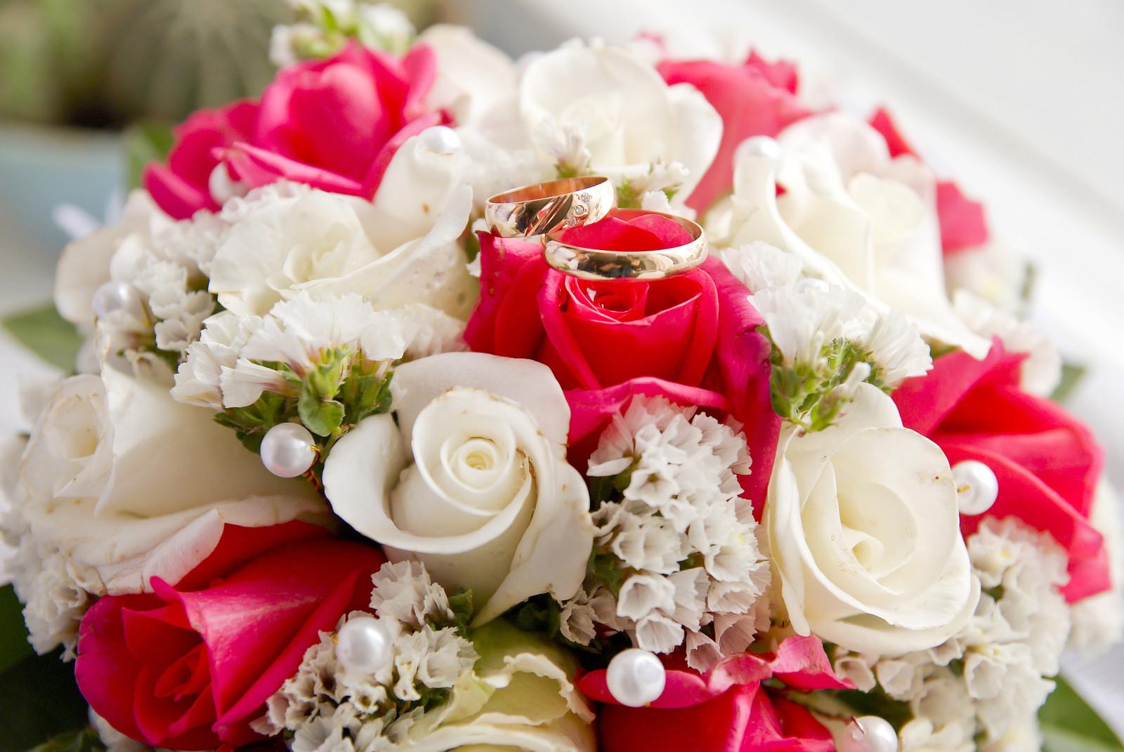Оригами, открытки с букетами цветов к свадьбе