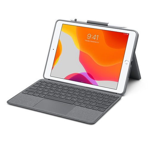Apple custodia Combo Touch di Logitech con tastiera e trackpad per iPad (8 gen.)