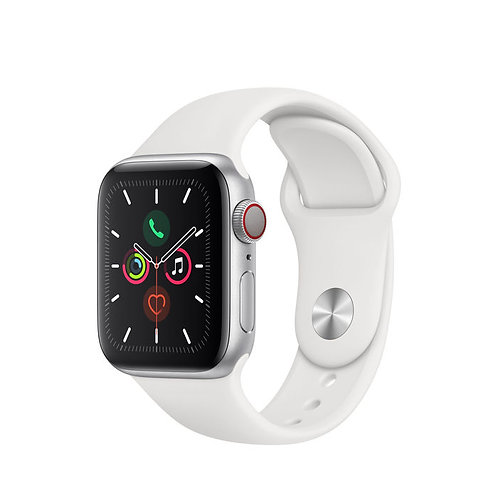 APPLE Watch Series 5 GPS+Cellular 44mm in alluminio color argento - Sport Bianco