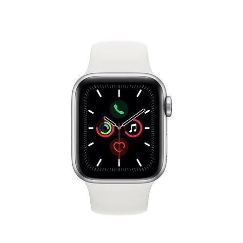 APPLE Watch Series 5 GPS 44mm in alluminio color argento - Sport Bianco