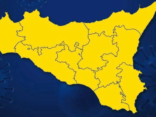 Confermata la zona gialla in Sicilia