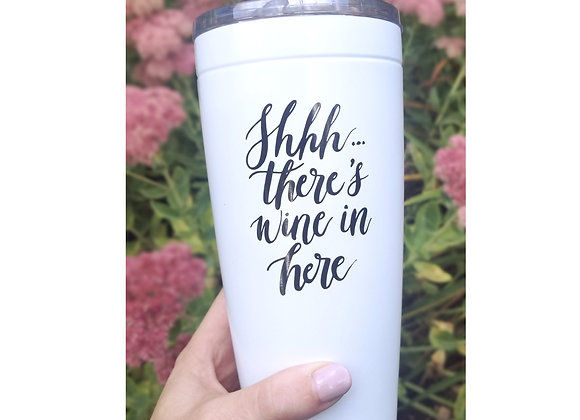 'Shhh....there's wine in here' Travel Mug