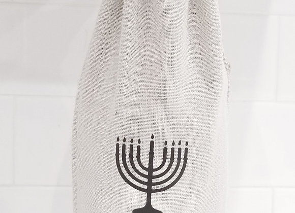 Let's Get Lit- Hannukah / Menorah Wine Bag