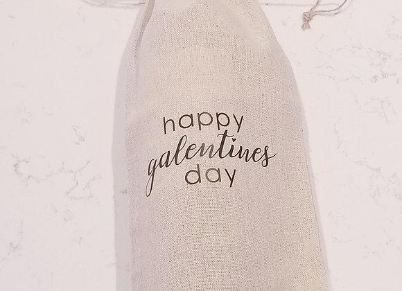 Happy Galentines Day Wine Bag