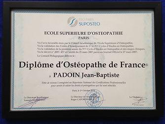 Ostéopathe Vincennes | Diplôme