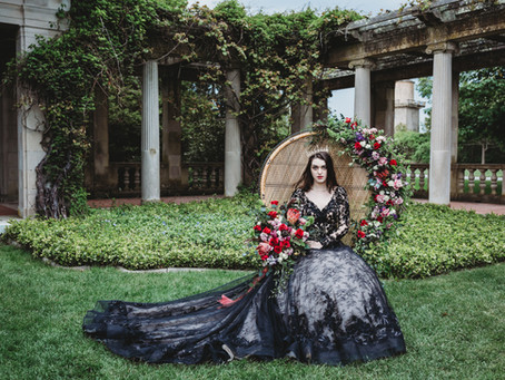Black Wedding Dress & Crown