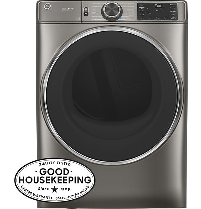 GE 7.8 cu. ft. Capacity Smart Front Load Electric Dryer with Steam and Sanitize