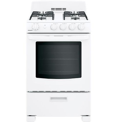 "HOTPOINT 24"" Front-Control Free-Standing Gas Range with Large Window"