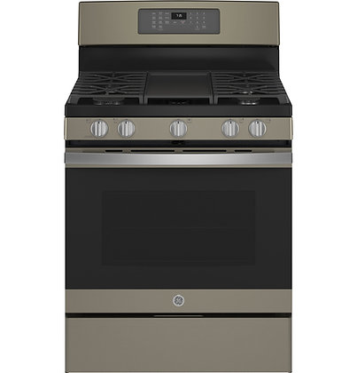 """GE 30"""" Free-Standing Gas Convection Range with No Preheat Air Fry"""