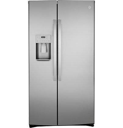 GE® 25.1 Cu. Ft. Fingerprint Resistant Side-By-Side Refrigerator