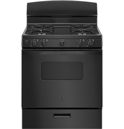 "GE 30"" Free-Standing Front Control Gas Range"