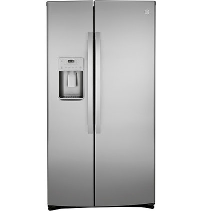 GE 21.8 Cu. Ft. Counter-Depth Fingerprint Resistant Side-By-Side Refrigerator