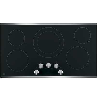 "GE 36"" Built-In Knob Control Electric Cooktop"