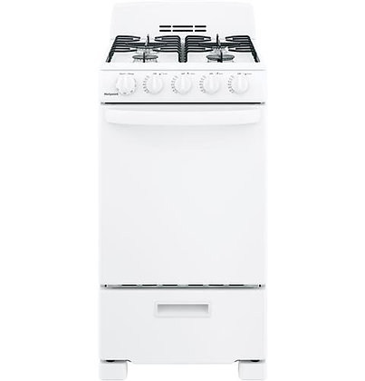 """HOTPOINT 20"""" Front-Control Free-Standing Gas Range with Sealed Burners"""