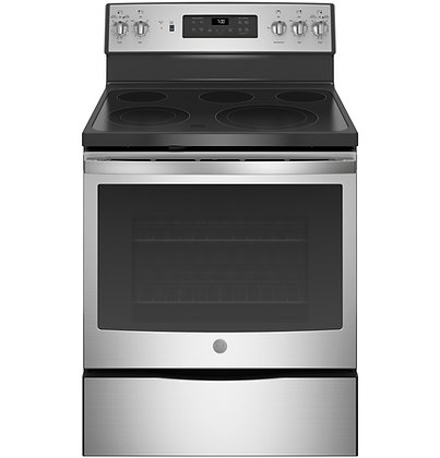 """GE 30"""" Free-Standing Electric Convection Range"""