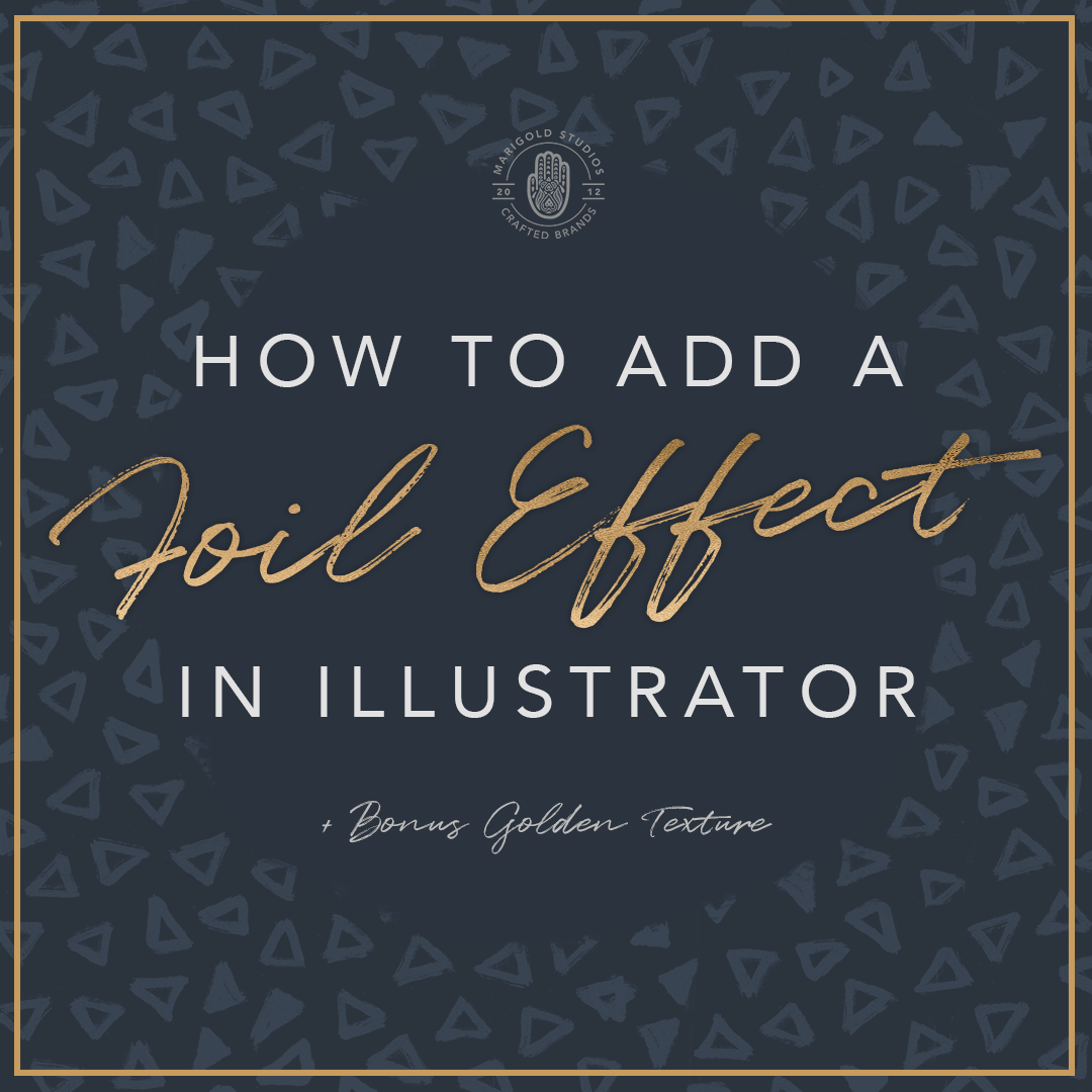 How to Add a Foil Effect in Illustrator