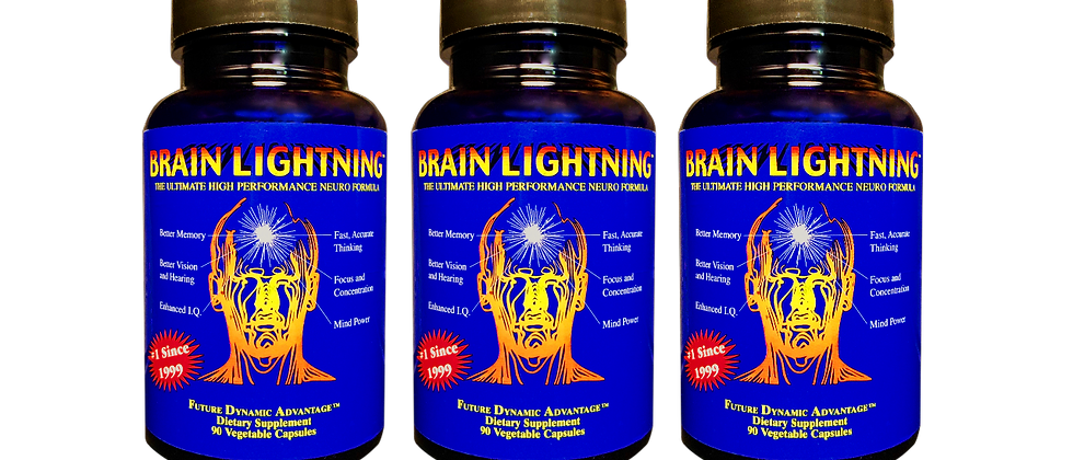 (3 pack–$79.95 each) Brain Lightning, 270 veg caps