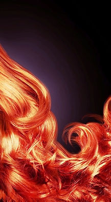 Flaming red curls