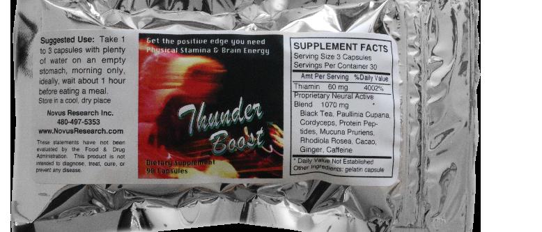 (1 package) Thunder Boost, 90 gelatin capsules