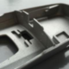 CNC aluminium bead blast finish