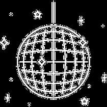 Icono de Bola disco