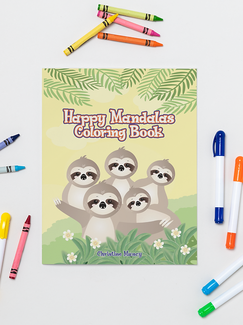 Coloring Book Sloths