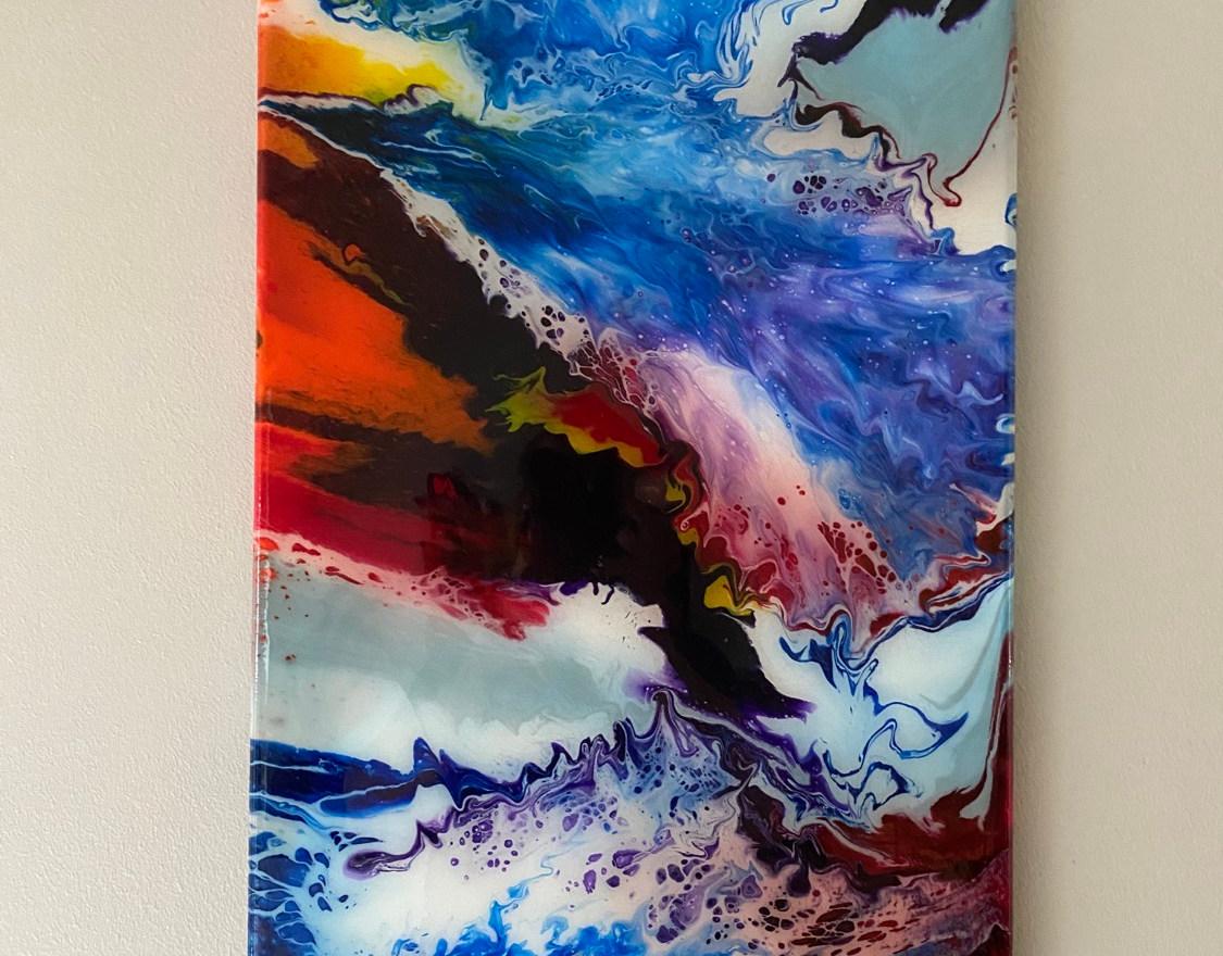 "12""x24"" on canvas $75"