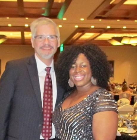 Monique Ella Rose with Soaring Eagle Casino CEO