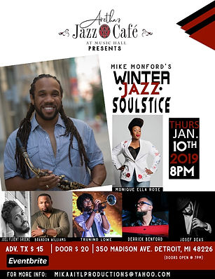 Mike Monford Jazz Cafe Flyer for Jan 201
