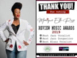 Monique Ella Rose Review Music Awards 20