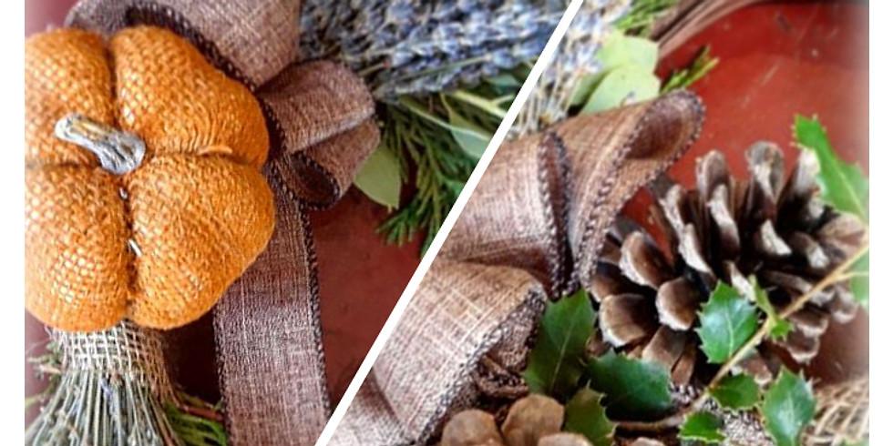 Lavender Wreaths Workshop For Fall! & WINE TASTING, Nov 6th!