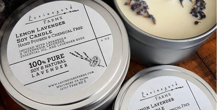 Lemon & Lavender Candle, 6oz