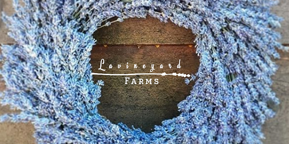 hosting another lavender wreath workshop and wine tasting at