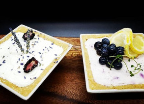 Lavender Blackberry Chevre' Cheesecake - No Bake Cheesecake By Chef Jessie Spence.