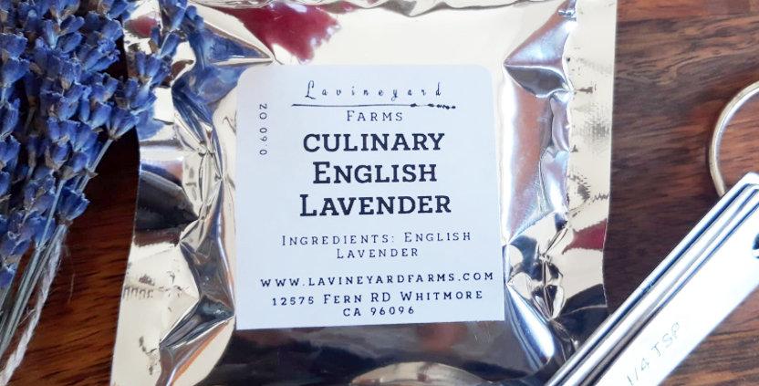 Dry Lavender- Culinary Grade (English  Lavandula Angustifolia) 0.60oz