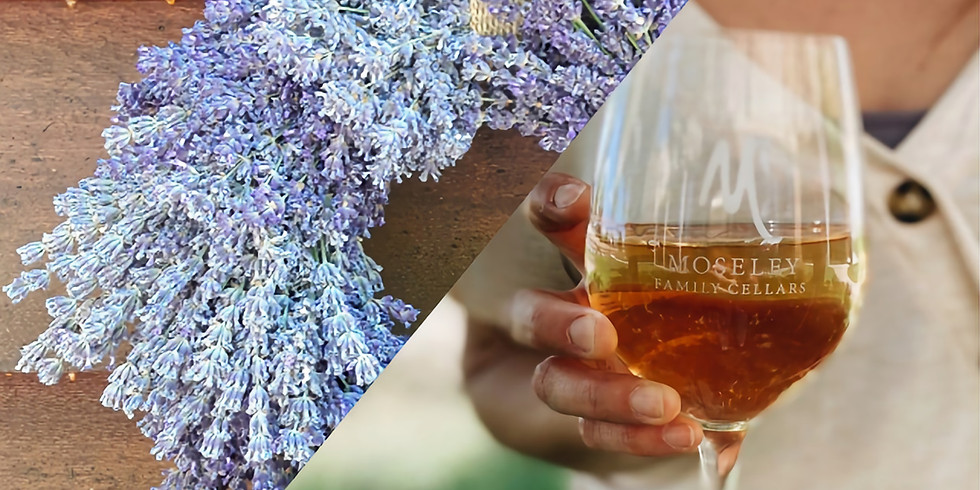 Lavender Wreaths Class & Mimosa at Moseley Family Cellars