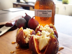 Roasted Figs with Feta Cheese Honey- Lavineyard Farms
